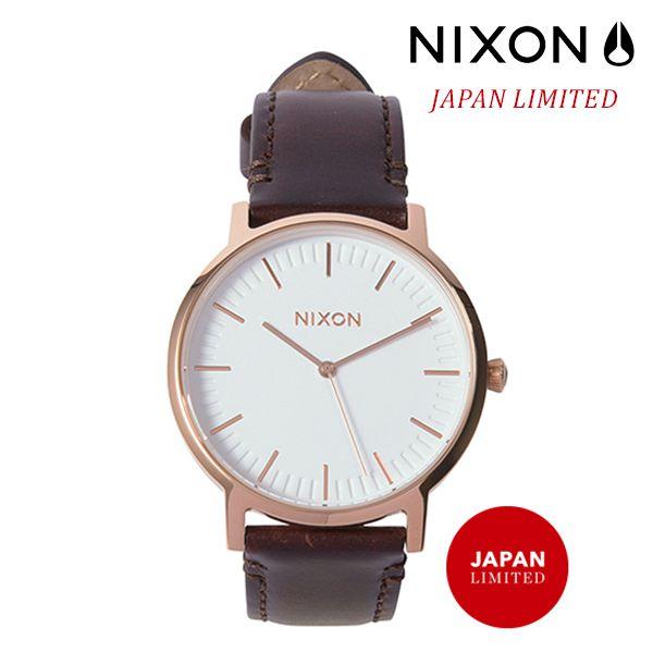 送料無料 時計 NIXON ニクソン PORTER LEATHER A1058 2524 FF G5