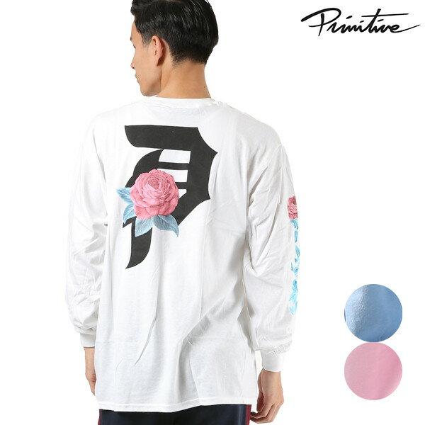 メンズ 長袖 Tシャツ PRIMITIVE プリミティブ PR18FMT01 MR ROSEBUD LONGSLEEVE TEE トップス ロンT カットソー ローズ 薔薇 FF3 K8