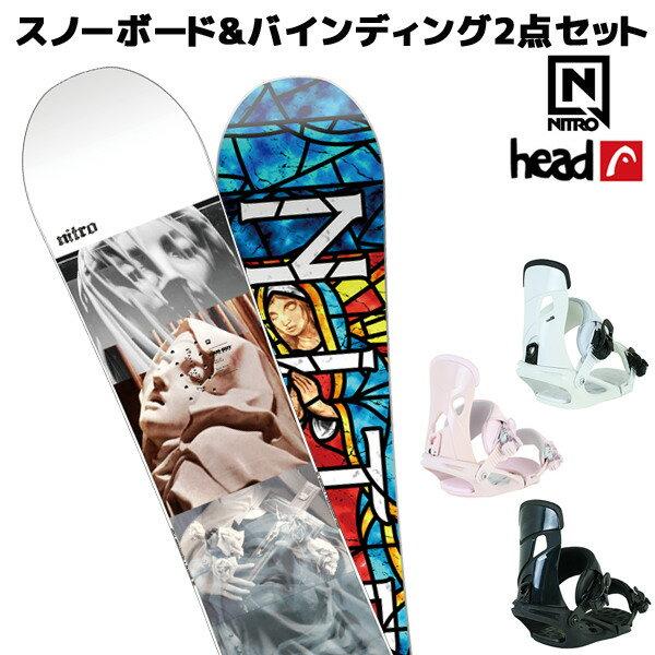 スノーボード+バイディング 2点セット NITRO ナイトロ DEMAND CAM-OUT デマンド カムアウト HEAD ヘッド NX MU 18-19モデル FF K29