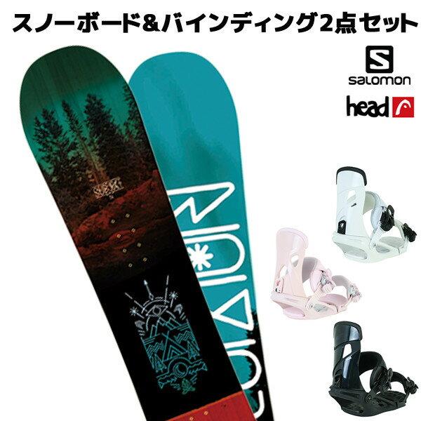 スノーボード+バイディング 2点セット SALOMON サロモン SUBJECT MEN サブジェクト HEAD ヘッド NX MU 18-19モデル メンズ FF K21