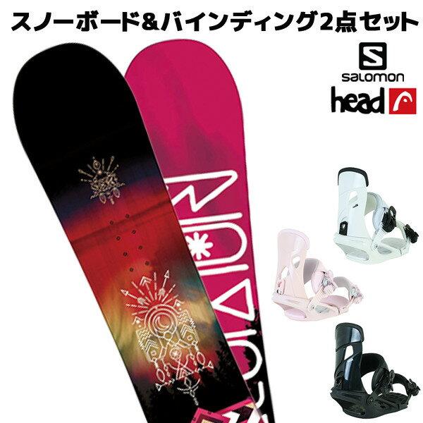 スノーボード+バンディング 2点セット SALOMON サロモン SUBJECT WOMEN サブジェクト HEAD ヘッド NX MU 18-19モデル レディース FF K21