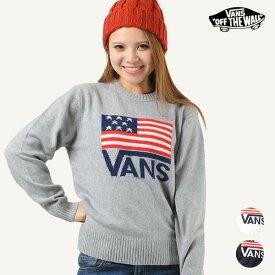 レディース ニット VANS バンズ VA18FW-GK02 セーター アメリカ 星条旗 FF3 K29