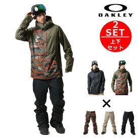 ★送料無料 スノーボード ウェア ジャケット パンツ 上下 2点セット OAKLEY オークリー JACKPOT 17-18モデル メンズ F1 L10