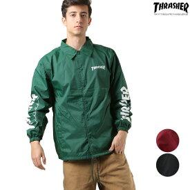 送料無料 メンズ ジャケット THRASHER スラッシャー TH8901-SC 長袖 アウター ストリート カジュアル コーチジャケット コーチ GG L3
