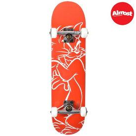 送料無料 キッズ スケートボード コンプリートセット ALMOST オールモスト TOM WHITE LINES FF A18