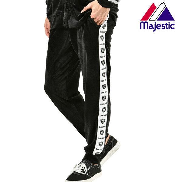 メンズ ロング パンツ Majestic マジェスティック FM11-OR-9H01 ロング パンツ カジュアル ストリート ジョガー ライン 春 秋 冬 GX1 B7