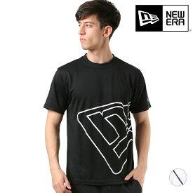 メンズ 半袖 Tシャツ NEW ERA ニューエラ 12018855-56 SS TECH TEE BIG FLG LNE WORD MARK GG B26