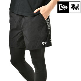 メンズ ショート パンツ NEW ERA ニューエラ 12018837 STRETCH TRACK SHORTS WORD MARK NE GG C25