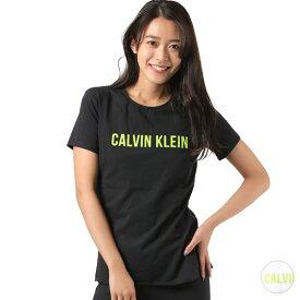 レディース 半袖Tシャツ Calvin Klein カルバン・クライン 4WF8K139 ロゴ ショートスリーブ T シャツ 1908328 トップス フィットネス GG1 D26