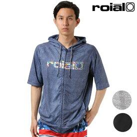 メンズ 半袖 ラッシュガード roial ロイアル R901MRG03 ジップアップ GG1 E11