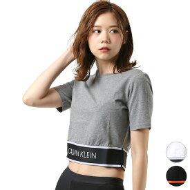 レディース 半袖 Tシャツ Calvin Klein カルバン・クライン 4WT9K141 1908454 トップス フィットネス GG2 E11