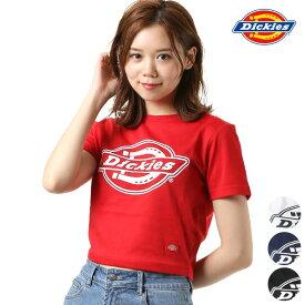 レディース 半袖 Tシャツ Dickies ディッキーズ DK006631 クロップド丈 シンプル ロゴ GG1 E14
