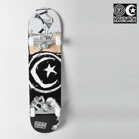 送料無料 キッズ スケートボード コンプリートセット FOUNDATION ファンデーション C18033 STAR&MOON BOILING MINI GG E30