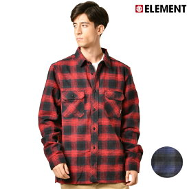 メンズ 長袖 シャツ ELEMENT エレメント AJ022-103 GX3 I4