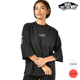 レディース 七分袖 Tシャツ VANS バンズ VA19FW-GT03 トップス 長袖Tシャツ 六分袖 半端袖 GG3 J9