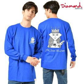 Diamond Supply Co. ダイヤモンド サプライ THE QUEEN LS TEE メンズ 長袖 Tシャツ D19DMPC004 GG4 L24