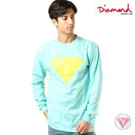 Diamond Supply Co. ダイヤモンド サプライ VECTOR DIAMOND LS TEE メンズ 長袖 Tシャツ D19DMPC015 GG4 L24