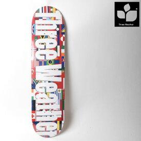 スケートボード デッキ THREE WEATHER スリーウェザー TW014046 SH DECK FLAG GG A10
