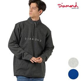 メンズ トレーナー Diamond Supply Co. ダイヤモンド サプライ D19DMTE100 LEEWAY PULLOVER ジップアップ HH1 A28