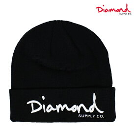 Diamond Supply Co. ダイヤモンド サプライ OG SCRIPT BEANIE CORE ビーニー Z18DMHF001CR ニット帽 GGF B1