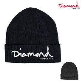 ビーニー Diamond Supply Co. ダイヤモンド サプライ Z18DMHF001CR OG SCRIPT BEANIE CORE ニット帽 HH A21