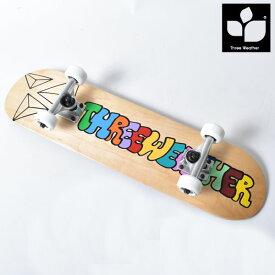 キッズ スケートボード コンプリートセット THREE WEATHER スリーウェザー SBMR2005 HH B5