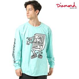 Diamond Supply Co. ダイヤモンド サプライ DESI KEITH BREAK DANC LST D19DMPC611S メンズ 長袖 Tシャツ HH1 B27