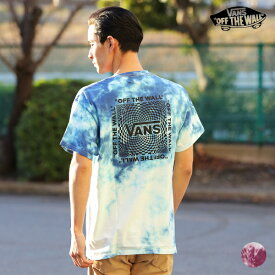 VANS バンズ VA20SS-MT08 メンズ 半袖 Tシャツ トップス タイダイ柄 バックプリント HH1 C14