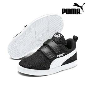 PUMA プーマ Courtflex v2 Mesh V PS コートフレックス メッシュ 371758 キッズ ジュニア シューズ IX1 C31