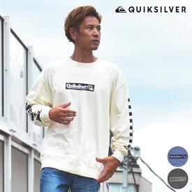 QUIKSILVER クイックシルバー CHECK YO SELF LT QLT204051 メンズ 長袖 Tシャツ オーバーサイズ 顔料染め HX3 H28 MM