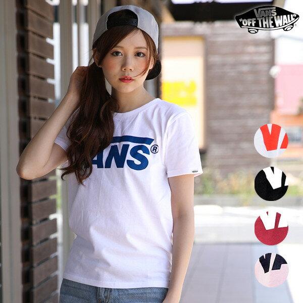 レディース 半袖 Tシャツ VANS バンズ VA17SS-GT11 正規品 ロゴ 人気 トレンド ストリート スケート EE1 C7