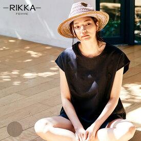RIKKA FEMME リッカファム R20S108 レディース ノースリーブ トップス リネン シャツ HH2 E18