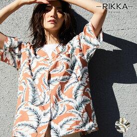 RIKKA FEMME リッカファム R20S111 レディース 半袖 シャツ トップス オープンカラー 開襟 HH2 E18