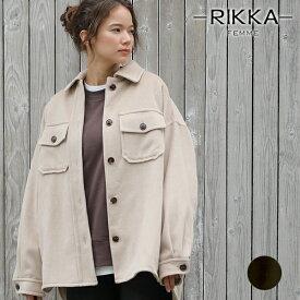 RIKKA FEMME リッカファム レディース ジャケット R19W1101 シャツアウター GG3 K5
