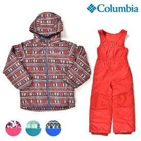 送料無料 スノーボード ウェア セットアップ Columbia コロンビア SY1092 Frosty Slope Set 18-19モデル キッズ 110cm〜120cm ジャケット ビブパンツ FF K27 MM