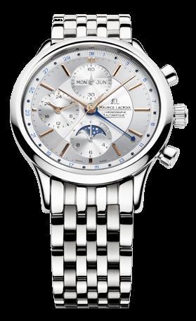腕時計メンズ モーリス・ラクロアMaurice Lacroix LC6078-SS002-131レ・クラシック・ムーンフェイズ・クロノグラフ腕時計メンズ [メーカー保証付 ] 【smtb-ms】 ギフト プレゼント クリスマス 誕生日 記念日 贈り物