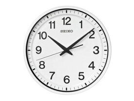 SEIKO/セイコークロック GP214W 衛星電波掛時計 電池切れ予告機能/スイープセコンド