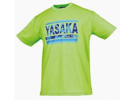 Yasaka/ヤサカ 卓球アパレル カモグラTシャツ(男女兼用)/カラー:ライム/サイズ:SS
