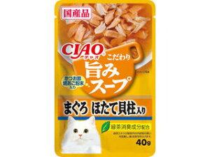いなばペットフード 株式会社 CIAO 旨みスープパウチ まぐろ ほたて貝柱入り 40g