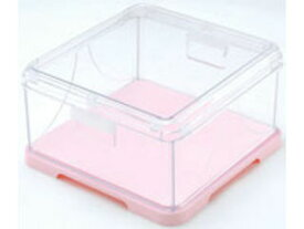 CHOPLA/蝶プラ工業 ワンタッチ折りたたみ式 角 ケーキカバー ピンク