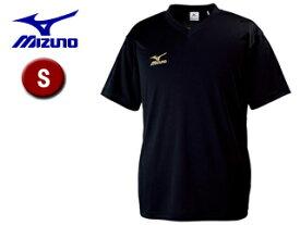 mizuno/ミズノ 32JA6151-90 クロスティック Tシャツ メンズ 【S】 (ブラック×ゴールド)