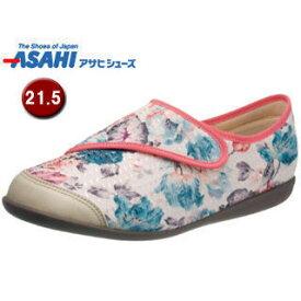 ASAHI/アサヒシューズ KS23462 快歩主義 L131RS レディース ウォーキングシューズ 【21.5cm・5E】 (ホワイトガラ)