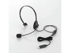 ELECOM/エレコム 【納期未定】USBヘッドセット(片耳小型オーバーヘッドタイプ) HS-HP21UBK