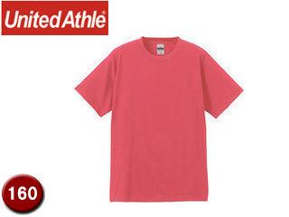 【nightsale】 UnitedAthle/ユナイテッドアスレ 555502C 6.2オンスTシャツ キッズサイズ 【160】 (フラミンゴピンク)