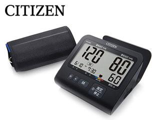 【nightsale】 CITIZEN/シチズン CHU502-BK 上腕式 電子血圧計 (マットブラックモデル)【ACアダプター付き】
