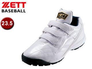 ZETT/ゼット 【オススメ】BSR8872-1111 トレーニングシューズ ラフィエットSP 【23.5】 (ホワイト×ホワイト)