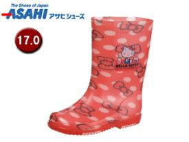 ASAHI/アサヒシューズ KL38401-1 サンリオ R283 レインブーツ 【17.0cm・2E】 (ハローキティ)