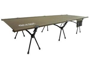 GIMMICK ギミック キャンプ 防災 高さ2段階 撥水加工 おしゃれ 2Way アウトドアコット カーキ GM-CT01KH ソロキャンプ 簡易ベッド 折りたたみベッド