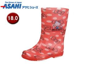 ASAHI/アサヒシューズ KL38401-1 サンリオ R283 レインブーツ 【18.0cm・2E】 (ハローキティ)