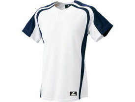SSK/エスエスケイ BW0906-1070 1ボタンプレゲームシャツ 【XO2】 (ホワイト×ネイビー)